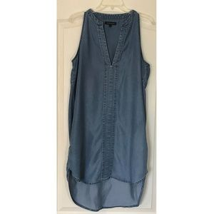 Banana Republic Blue Sleeveless Shift Dress Sz 14